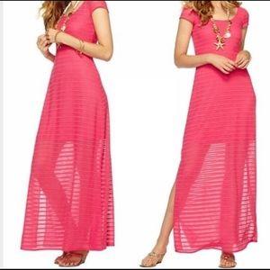 Lily Pulitzer pink maxi dress